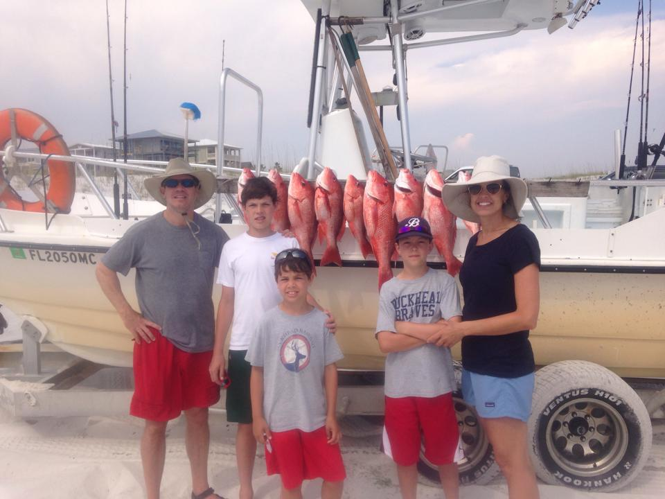 family fishing charters on 30A